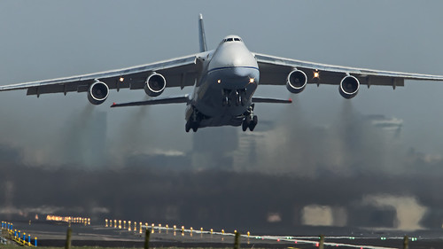 Antonov-124 taking off from EHAM Schiphol