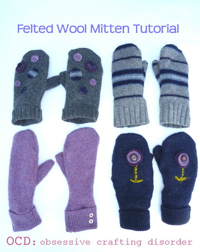 felted wool mittens tutorial