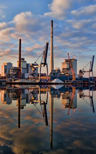 sunset bremen industrialharbor leicax1