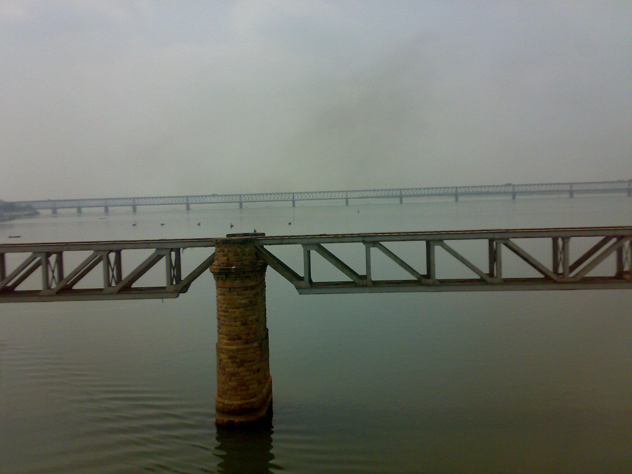 godavari river from railway bridge flickr photo sharing