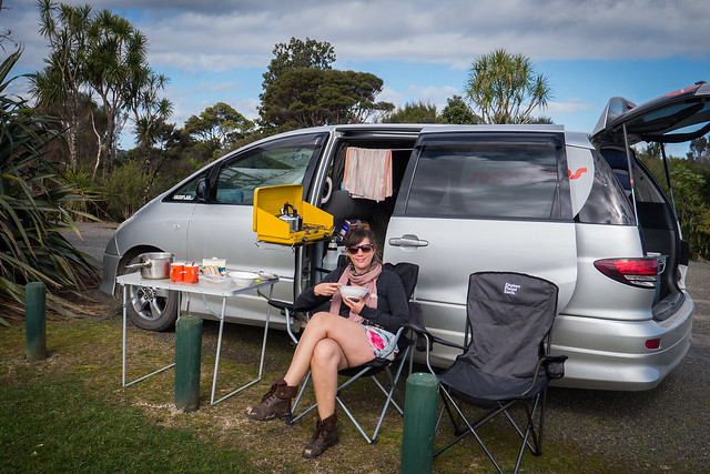 Spaceships tea stop at Waipuoa Forest - North Island New Zealand Road Trip | New Zealand North Island Itinerary | must see | Attractions | Things to do in NZ | Tours | Points of interest | What to see | Highlights | Places to see | Budget Guide | Fun things | Camper van | Motorhome