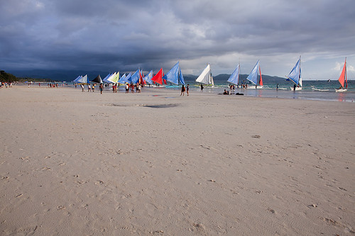 sunset sea beach island boat philippines sail boracay 海 日落 船 岛 沙滩 crabboat 帆 长滩 螃蟹船 律宾