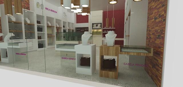 Tienda de joyas dise o de mobiliario exhibidores para - Vitrinas de diseno ...