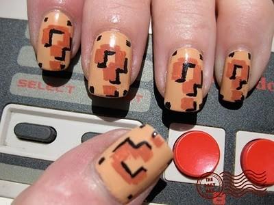 10-nuomifan-Super Mario Nail Art