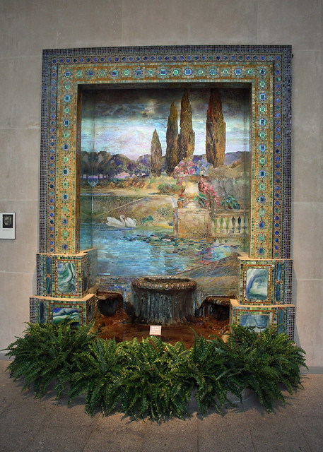 Fountain base for mosaic wall mural flickr photo sharing for Cypress gardens mural