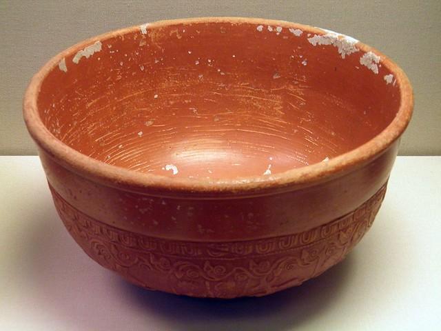 Samian Bowl (terra sigillata) Dragendorff 37, Roman Britain, British Museum