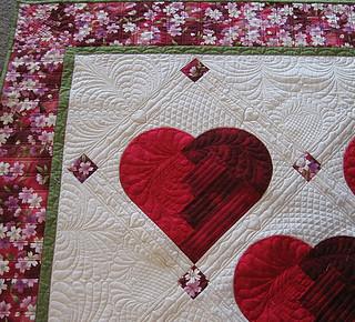 Broken Heart quilt closeup