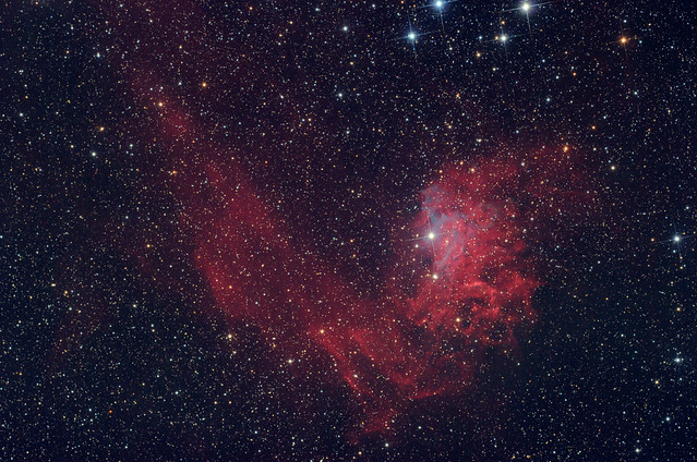 IC 405 - The Flamming star nebula