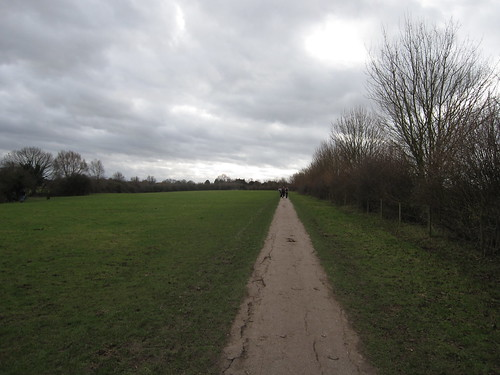 Walking path from Cambridge to Grantchester