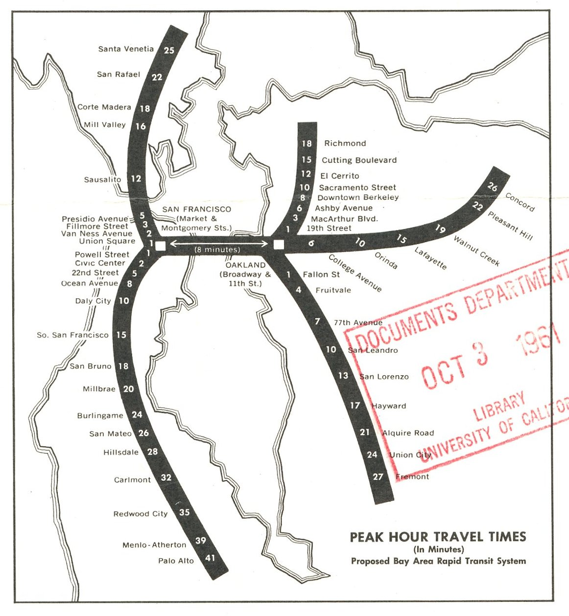 The ACTUAL original BART planned routes : bayarea