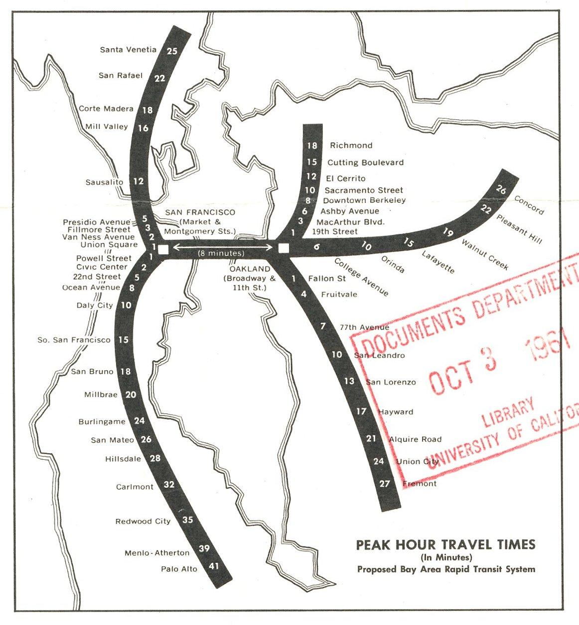 The ACTUAL original BART planned routes : bayarea