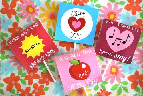 Free Printable Valentine's Day Lollipop Covers