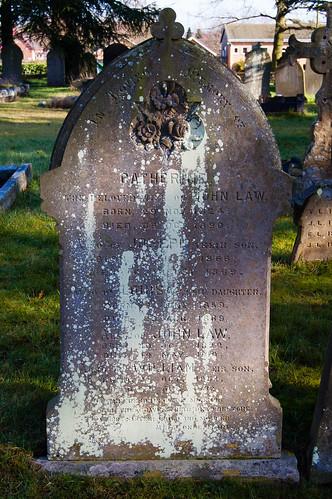 Lichen: Pattingham graveyard