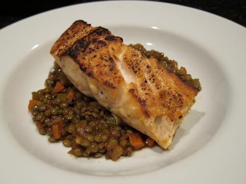 Salmon, lentils IMG_4871