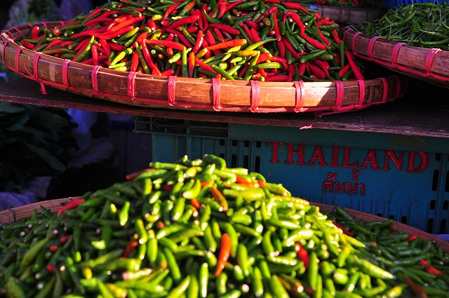 Chili Madness in the Market -- Chiang Mai, Thailand