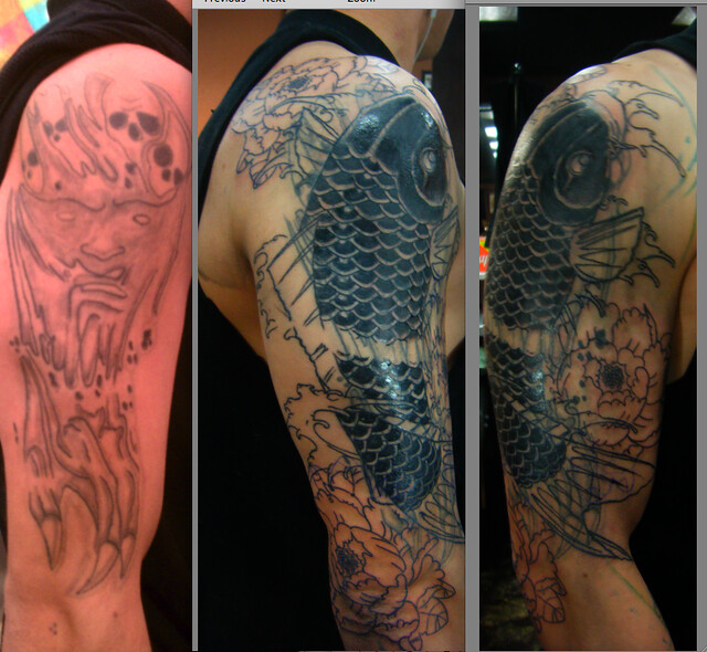 koi fish cover up session 2 explore spooner tattoos