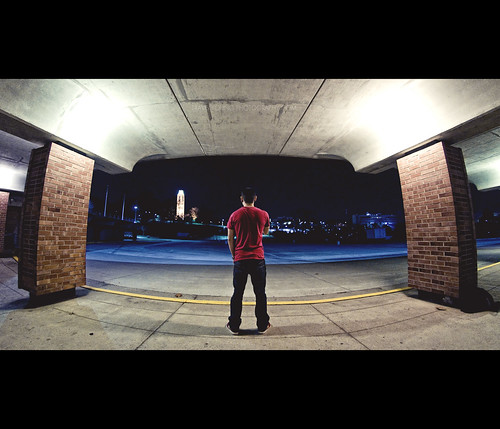 night campus underground path fisheye campanile ku walkway 365 selfpotrait universityofkansas footballstadium project365 spencermuseumofart nikkor105mmf28g nikond300 travisyoungphotography