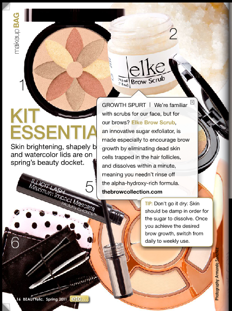 Elke's Brow Scrub seen in Beauty Launchpad