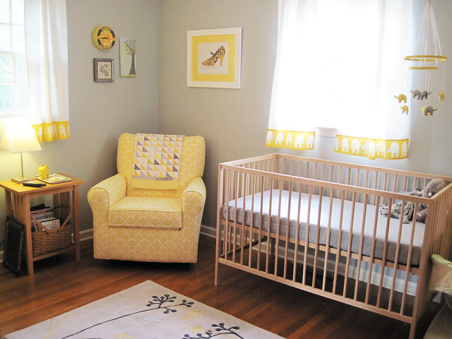 Yellow Gray Elephant Nursery Flickr Photo Sharing