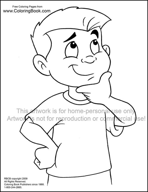 free thinking coloring pages - photo#8