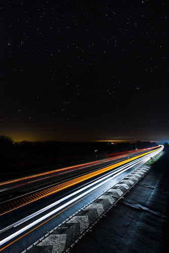 Light Trails Towards Risby Junction A14