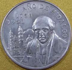 moneda-cinco-pesos-ano-de-hidalgo-1953