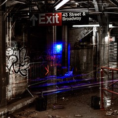 #trans_lucent #nostalgia #weeklyphotochallenge @timessquarenyc #thosewerethedays #subway #irt #timessquarestation #graffiti #memories #noexit #broadway #bhportdev
