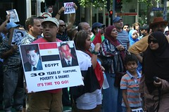 30 years of torture - Egypt Uprising Melbourne protest