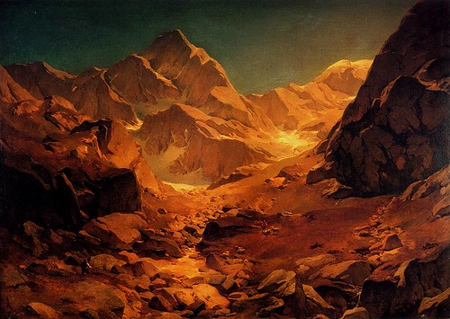 Achenbach, Oswald (1827-1905) - A Mountainous Landscape (Private Collection)