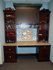 shelving, shelf, furniture, wood, room, chest of drawers, bookcase, desk, cabinetry,