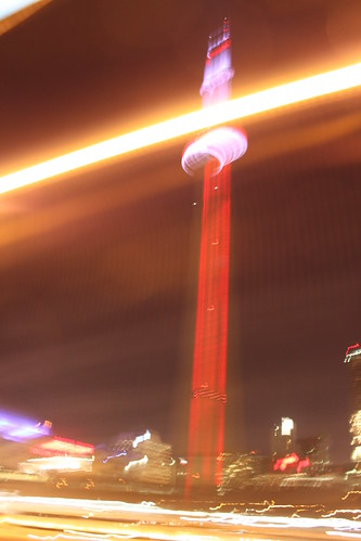 CN Tower blur