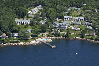 Aerial View of the Spruce Point Inn