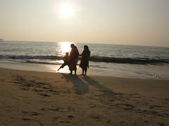 Sun Set In Beach