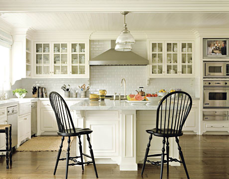 Gorgeous White Kitchen Benjamin Moore White Dove