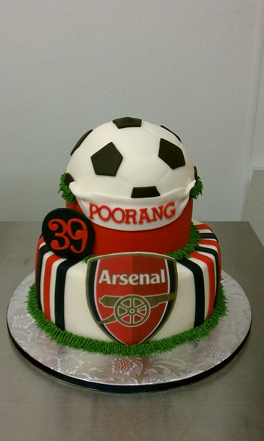 Arsenal Soccer Birthday Cake Image Inspiration of Cake and