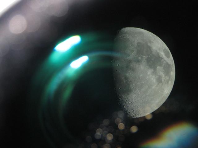 Moon-through-telescope | Flickr - Photo Sharing!