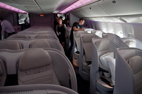 Air New Zealand's new 777-300ER interior - Premium Economy Cabin.