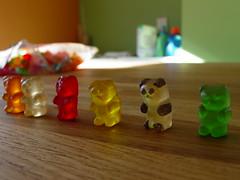 yellow, gummi candy, green, toy,