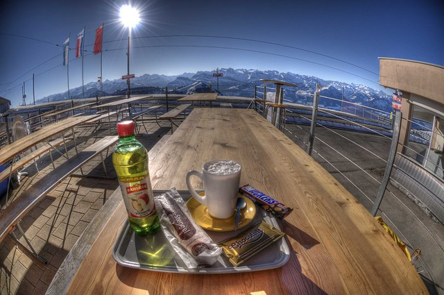 Snack on Rigi Kulm