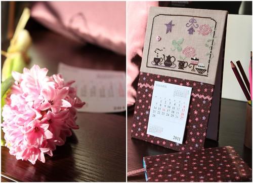 Calendar & notebook
