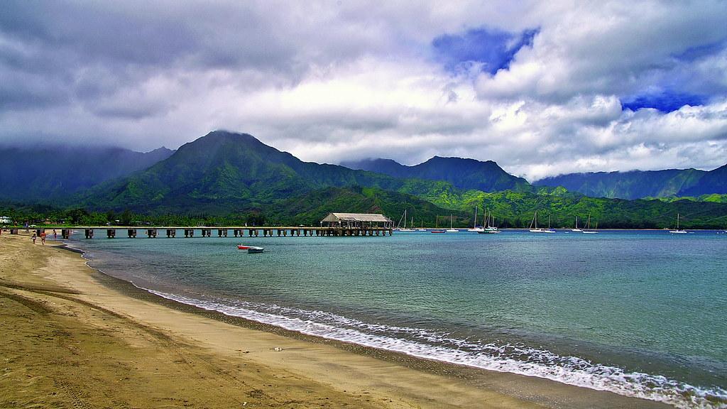 Hanalei Bay пляж гавайи