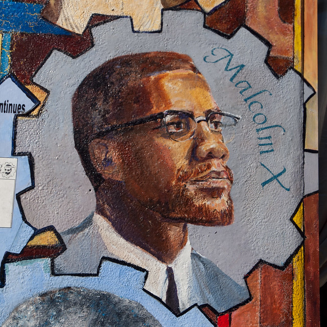 Malcom X (mural) from Flickr via Wylio