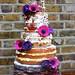 Naked wedding cake! by cakebysugar