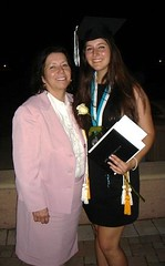 Christine and Samantha at her High School Graduation