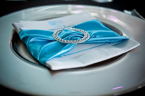 88 Events designs The Gordon Ramsay Gala Dinner at the Glasgow Science Centre - Linen Napkin and Silver Glass Charger Plate