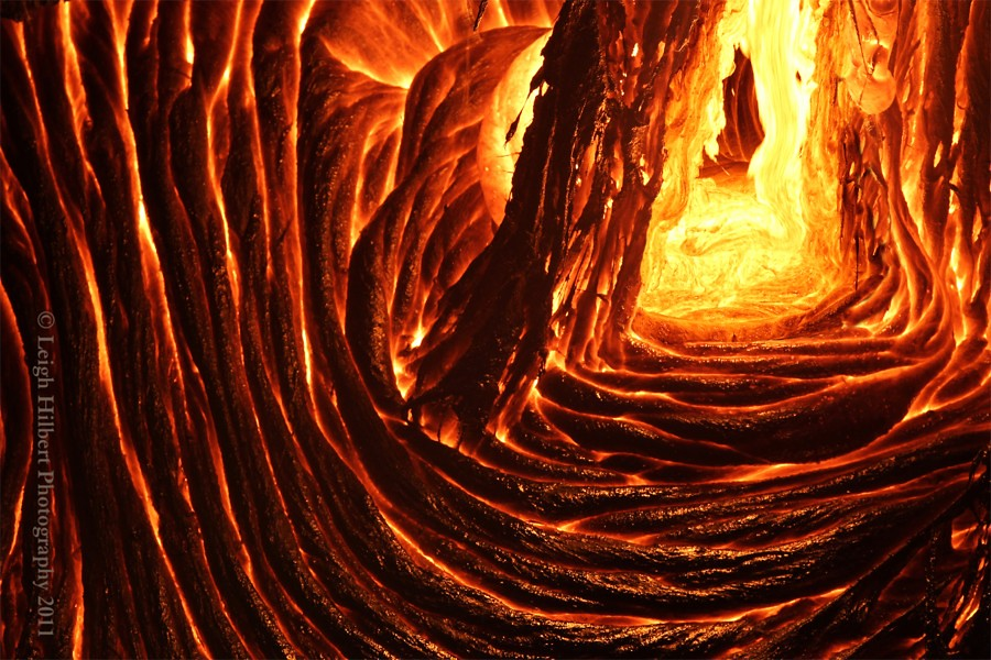 Inside a lava cave