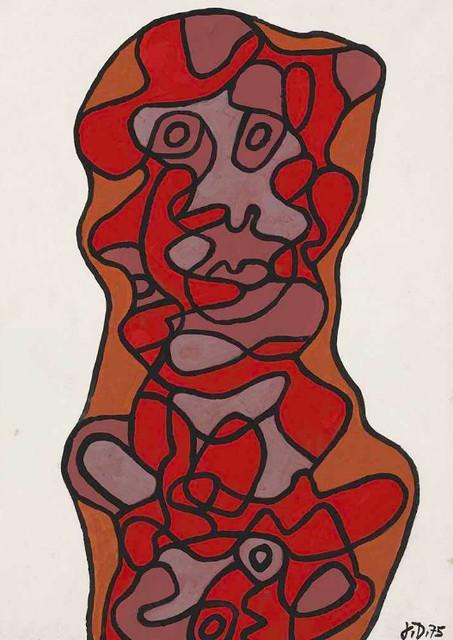 [ D ] Jean Dubuffet - Effigie Incertaine XXIV (1975)