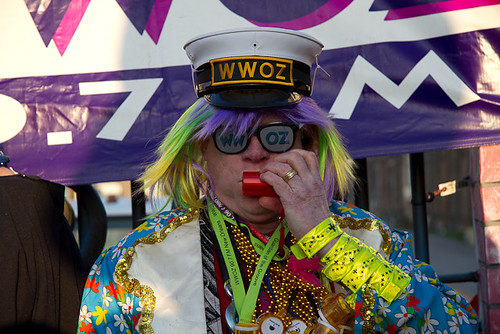 BACCHUS: WWOZ General Manager, David Freedman leads the Guardians of the Groove into the revelry.