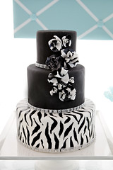 Tiffany Blue & Zebra Stripe Dessert Table