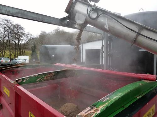 Loading Draff at Glenturret Distillery